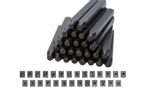 Metalwork Penguin Font Letter Stamp Set, LOWERCASE, 27 Piece, 2.5mm. J1381